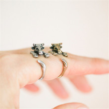 Wholesale New Trendy Vintage Adjustable Cow Rings Fashion Animal Men Bullfighting Rings Women Gift Aros