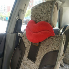 36X20cm Red Big Lips Shape Car Seat Neck Pillow Auto Headrest Cute Automotive Occipital For Peugeot Renault Citroen Mitsubishi(China)