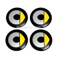 4pcs 56mm Car Sticker Wheel Center Hub Caps Emblem Fit For SMART fortwo forjeremy FourJoy forstars forvision dragon edition