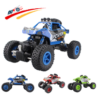 (ship from RU) RC Car 2.4G 4CH 4WD Rock Crawlers Car Double Motors Drive Bigfoot Remote Control Car Model Off-Road Vehicle Toy