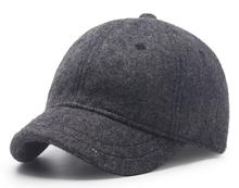 6pcs Men Winter Blank Wool Blending Short Peak Baseball Hats Fall Women Plain Black Base Ball Caps Short Bill Mens Hat Wholesale(China)