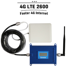 LCD Display 4g Signal Booster 4G LTE 2600 Band 7 Cellphone Repeater 70dB Cellular Signal Amplifier 4G LTE 2600mhz Antenna Set