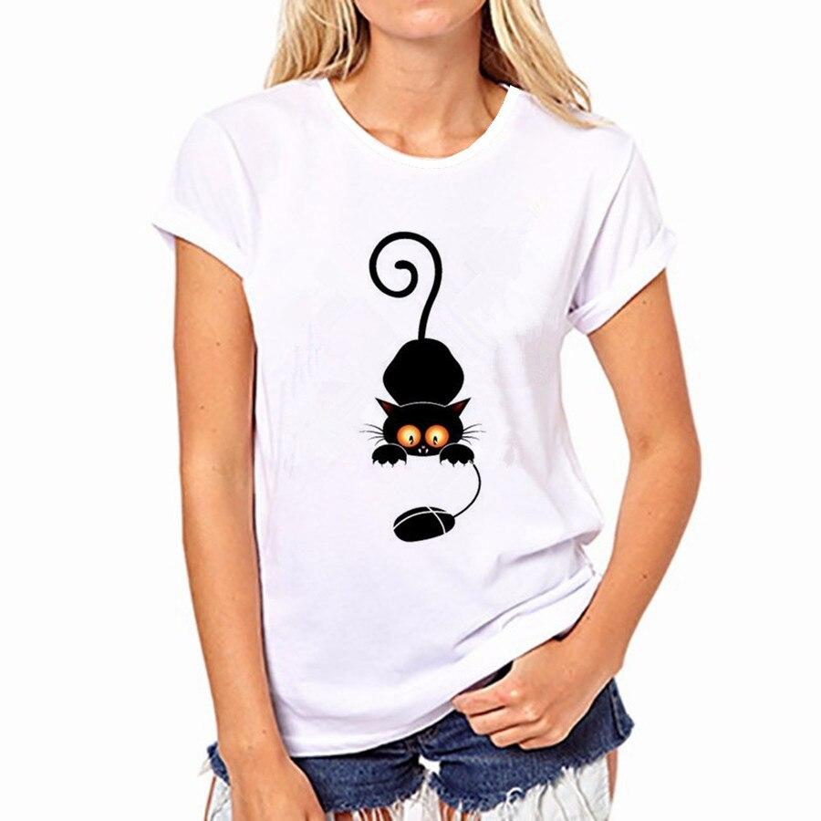 100% Pur Coton T-Shirt D'été 2018 Vente De Mode Col Rond T-shirt Adorable Panda Mignon T-shirt Femmes kawaii Vêtements Casual 19