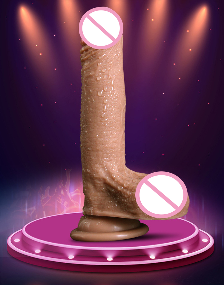 Super Realistic Soft Silicone Dildo Suction Cup Male Artificial Penis Dick Woman Masturbator Adult Sex Toys Dildos For Women 10