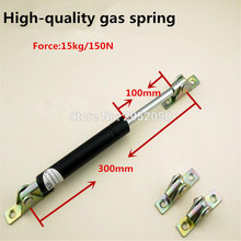 Free shipping 6pcs/lot 300mm central distance,100 mm stroke, pneumatic Auto Gas Spring, Lift Prop Gas Spring Damper