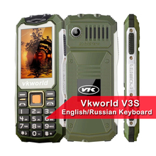 VKworld Stone V3S Anti-Low Temperature Daily Waterproof Shockproof Phones 2.4 inch 21 Keys Dual LED Light FM Russian Keyboard(China)