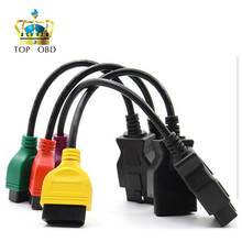 4PCS/lot High Quality fiatecuscan OBD2 Connector Diagnostic Cable For Fiat ECU Scan MultiECUScan Cable for Fiat 500 Punto Lancia(China)