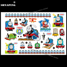 SHNAPIGN Train Thomas Child Temporary Body Art Flash Tattoo Sticker 10*17cm Waterproof Henna Fake Tatoo car Styling Sticker(China)