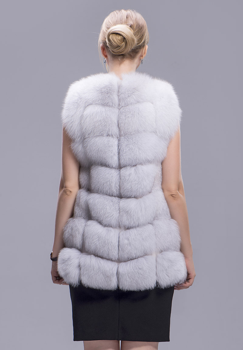 fox fur vest 70cm blue fox 5 1