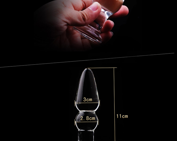 1Pc Glass Anal Butt Plugs Crystal Dildos Beads Ball Erotic Stimulator Fake Penis Female Masturbate Sex Toys for Couples 15