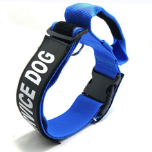 Adjustable Pet Service Dog Training Collar Nylon Daily Walking k9 Collar For Small Medium Large Dogs Matching Dog Harness& Leash