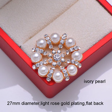 (L0052) free shipping wholesales 20 pcs/lot, 27mm rhinestone embellishment,silver or light rose gold color,flat back,3 styles