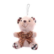 1 PC Hot Sale 10CM Mini Teddy Bear Plush Toy For Little Babys Gift Soft PP Cotton Stuffed TV Movie Cartoon Figure Accessories(China)