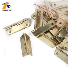 In Stock 30pcs 30*18mm furniture connectors 4 hole small wooden gift box hinge small wooden hinge(China)