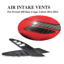 Buy 2PCS/Set Carbon Fiber Side Air Intake Vents Mesh Covers Ferrari 458 Base Coupe 2-Door 2011-2013 Car Accessories for $549.88 in AliExpress store