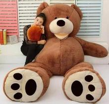 79'' SUPER HUGE big Teddy bear (ONLY COVER) PLUSH TOY SHELL (WITH ZIPPER) 200cm(China)