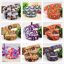 YJHSMY 147295 ,25mm 1 yards Cartoon Halloween Series printed grosgrain ribbon,Clothing accessories,DIY jewelry wedding package(China)