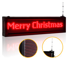 40 X 9.5 inches LED Display Outdoor P10mm Android WIFI rapid Programmable Led Sign Scrolling Message Board for store Business(China)