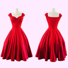 Buy Audrey Hepburn Vestidos Plus Size Womens Dress Clothing Summer style Retro Casual Party Robe Rockabilly 50s Vintage Dresses 2016 for $20.89 in AliExpress store