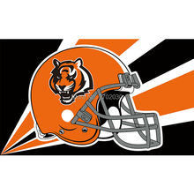 Orange Helmet Cincinnati Bengals Flag Super Bowl Champions Football Sport Team Fan 3ft X 5ft Banner 100D Polyester