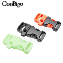 "2pcs 5/8"" Whistle Buckles Emergency Survive Kits for Paracord Bracelet Outdoor Activities Bag Parts 3 Colors for pick(China)"