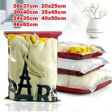 Plastic pack zip lock front clear clothes bags/ Thicken plastic packaging Bedding bag sheets pouchs