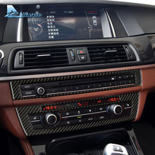 Airspeed Carbon Fiber Car CD AC Center Control Panel Stickers Console Frame Refitting for BMW F10 5 Series 520i 525i Car Styling(China)