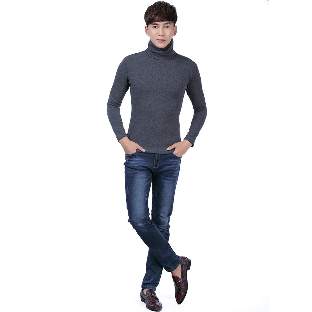 Black Turtleneck Sweater Men Pullovers Winter Thicken Underwear Mens Slim Fit Cotton Jumpers Male Turtle Neck camiseta Sweater Pull homme (7)