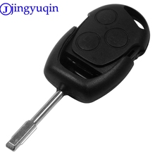 jingyuqin 3 Buttons Blade Uncut Remote Car Key Shell Case Fob Covers For Ford Focus Mondeo Festiva Fusion Suit Fiesta KA(China)