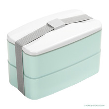 BPA Free Reusable Lunch Bento Box with Cutlery Food Storage Canteen Fashion Style Lunchbox 3 Colors for Option(China)