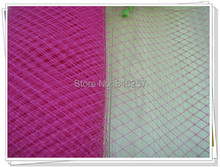 25cm width birdcage veil hot pink great for DIY hair accessories bridal headwear milliery hats and all hairstyle craft