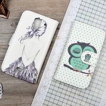 Flip Case For Huawei Ascend Y360/Y336 Cover Wallet Stand Holder Card Phone Bag for Huawei y360 4 inch case &Printing Cartoon(China)