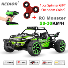 1:18 Highspeed Remote Control Car 20KM/H Speed RC Drift Car 2.4G 4wd off-road buggy with Lipo battery add a spinner random color