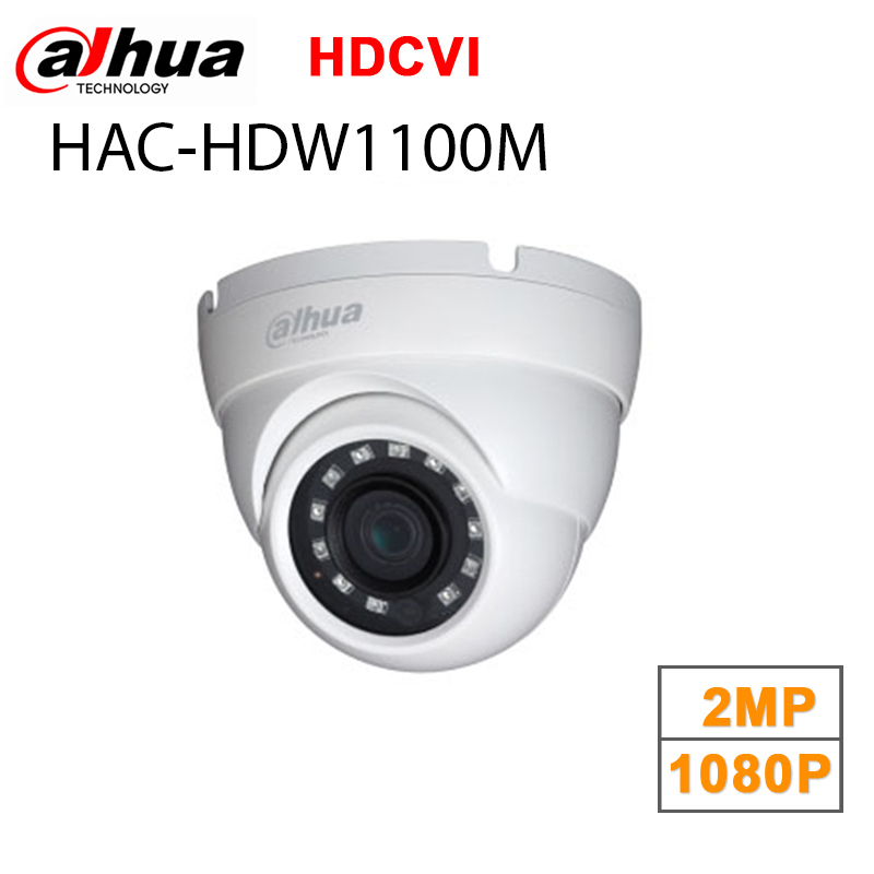 Original Dahua 1 MP High Defiantion Night Vision IR30M IP67 Dome CCTV Camera security camera DH-HAC-HDW1100M<br>