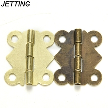 JETTING 10pcs 20x17mm Mini Butterfly Hinge Jewelry Gift Wine Box Wood Dollhouse Door Hinge Cabinet Drawer Jewelry Box DIY Repair