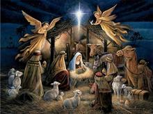 Embroidery DMC 14CT Quality 14ct Counted Cross Stitch Kit Set Picture Jesus was born Wall Decoration Home For Handmade Arts(China)