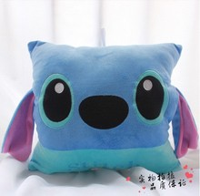 lovely cartoon stitch plush toy about 35x30cm muff,warm hands ,birthday gift, Christmas gift h696(China)