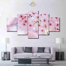 3-4-5 Pieces Plum Blossom Flowers Art Set Poster Home Goods Wall Art Canvas Painting HD Prints for Home Decoration(China)