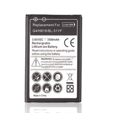 G4 Cell Phone 3500mAh Replacement Battery BL-51YF For LG G4 H818 H818N VS999 F500 F500S F500K F500L H815 Rechargeable Batteria