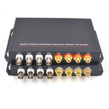 Digital 4 Channel Video Audio Data Fiber Optical Media Converters(China)