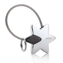Milesi Star Metal Keychain Lover Keyring Couple key holder souvenir pendant innovative Items llaveros porte clef Gift 7537_2(China)