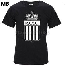 7b72aef77 Belgian league Charleroi club footballs fan classic Camiseta Men T-Shirts  Tee short T shirt RCSC sporting de charleroi