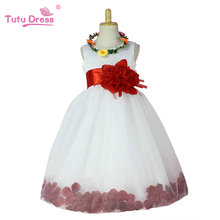 Hot Sell Flower Girl Dresses For Weddings Elegant Gown 2-12 Age Designer Flower Girl Gowns For Kids
