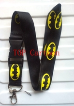 Hot Sale !  1 pcs Popular Batman Logo Removable Lanyard/ MP3/4 Cell Phone Neck Strap Lanyard Keychain Y-04