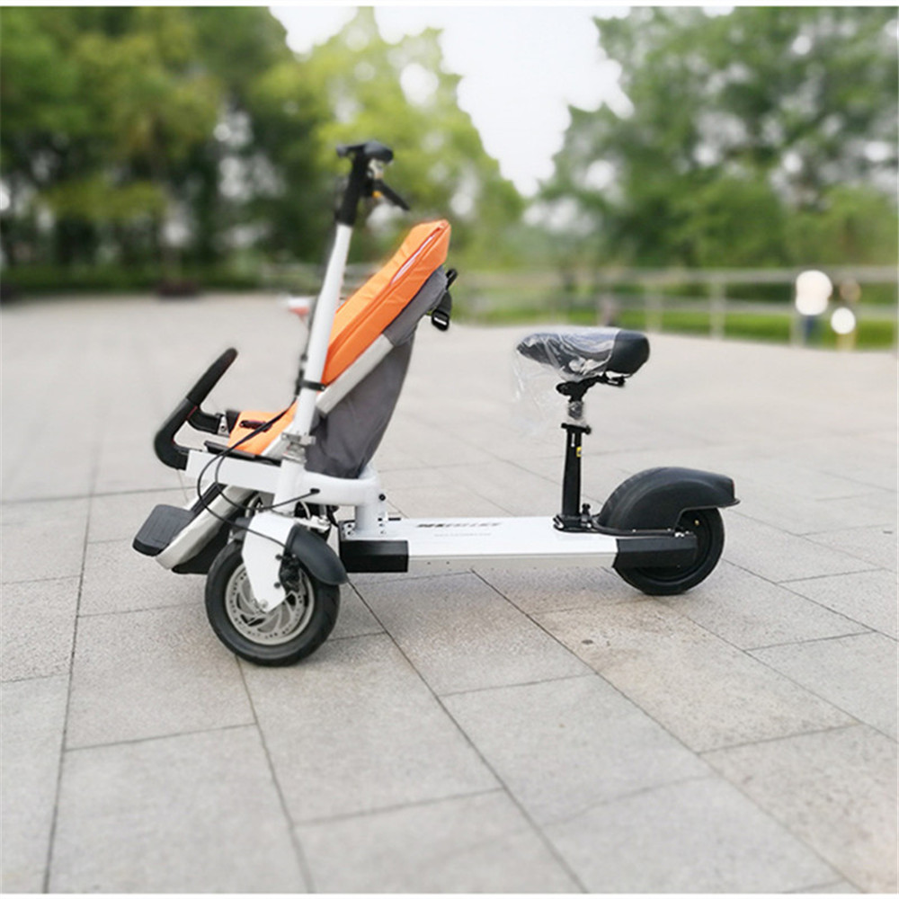 12 Inch Aluminum Alloy Removable Load 160kg Mini 36V 12Ah Electric Family Bicycle Pram Mother and Child Car Stroller05