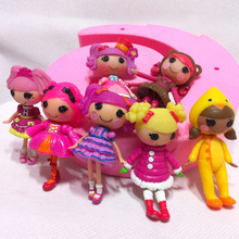 1pc 3inch original MGA Lalaloopsy dolls accessories/pets Mini Dolls For Girl's Toy Playhouse Each Unique(China)