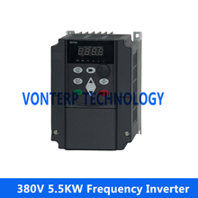 VF control ac drive /frequency inverter three phase 380v  5.5KW 3 Phase  50hz/60hz