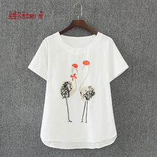 Women Summer Oversized T-shirt Casual Tee Shirt femme Ladies Top Tees Cotton Tshirt Female Brand Clothing T Shirt Printed Tops