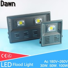 Real 30W 50W 100W perfect power LED Flood Light Floodlight LED street Lamp 220V waterproof driver LED outdoor Spotlight