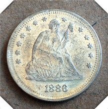 1886 US SEATED LIBERTY QUARTER DOLLARS WITH MOTTO ON REVERSE Copy Coin